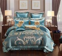 Luxury Royal Jacquard Bedding Sets Egyptian Cotton Embroidered Bed Sheet Set