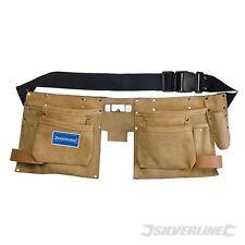 SILVERLINE CB05 Double Pouch Tool Belt 8 Pocket 300 x 200mm