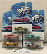 Cool Classics * K Case Set of 5 Cars *  PINK Otto Cardbacks * K Case * F1