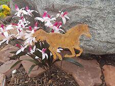 Rustic Horse Mustang Country Western garden yard metal art w/ detach stake