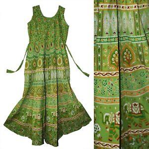 Indian Dress Cotton Retro Ethnic Boho Vestir For Hippie Retro Women Vintage Look