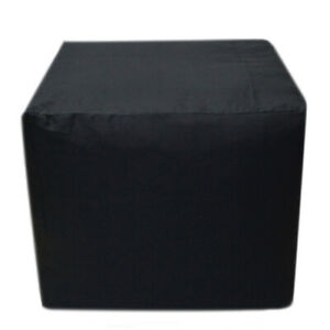 """Vintage 18"""" Square Plain Ottoman Pouf Cover Indian Handmade Footstool Seat Cover"""