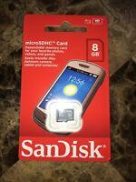 SanDisk 8GB microSD C4 8G microSDHC micro SD SDHC memory card SDSDQ-008G