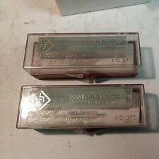 """Hamilton Bell Microscope Slides & Cover Slips 3""""x1"""" No.370 2 Sets of 12 Each Vtg"""