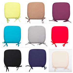 Plain Coloured Kitchen/Dining Room/Patio Tie-on Seat Pad cushions (best Quality)