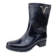 Damen Stiefel Gr. 38 Blau Gummistiefel Boots wasserabweisend Stiefeletten ST15
