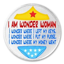 "Wonder Woman Left My Keys Purse Money - 3"" Sew / Iron On Patch Humor Joke Gift"
