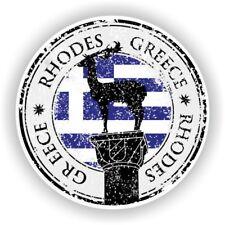 Greece Rhodes Stamp Bumper Sticker Decal for Car Laptop Tablet Door