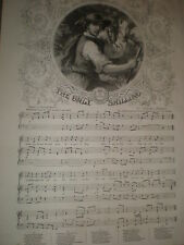 Old Music Sheet The Only Shilling Charles Mackay Sir h Bishop 1858 ref J
