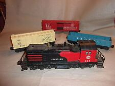 Lionel Seaboard 602  NW-2 Diesel  Switcher, 10 Cars, Tracks, Accessories Lot!!!
