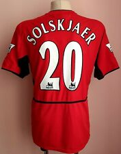 Manchester United 2002 - 2004 Home football shirt #20 Solskjaer