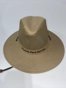 Florida National Park Service Official Uniform Wide Flat Brim Sun Hat SZ Small
