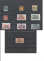 Memel. Litauen 1922, Einzelmarken aus MiNrn: 84 - 123 o,geprüft Huylmans u.a BPP