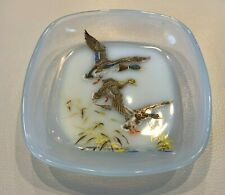 Opalex Hand Painted Dish Made in France, Gamaches Commune Somme Department