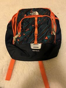 The North Face Children's Sprout Backpack Orange/ Blue Great Condition