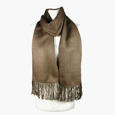 Fashionable Brown Alpaca Wool Blend Unisex Scarf by INKITA. Chic Style. Winter.