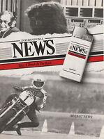 Publicité ancienne briquet News 1982 issue de magazine