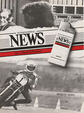 Publicité ancienne briquet News 1982 issue de magazine
