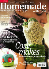 HOMEMADE WITH LOVE #5 COSY MAKES Mittens EMBROIDERY Knitting STITCHING @NEW@