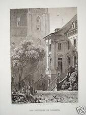 Liegnitz Legnica Polen Polska Schlesien echter alter Stahlstich 1841