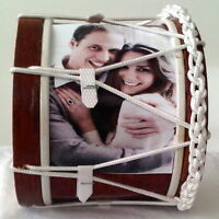 William and Kate Miniature Souvenir Lambeg Drum with Engagement Image