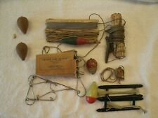 Vintage Antique Fishing Supplies Assorted