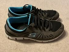 Skechers Flex ladies trainers in grey/blue - size 5
