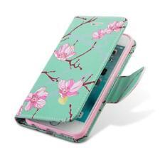NIB Apple iPhone 6 Plus/6S Plus Trendy Leather Flip Wallet Case-Japanese Blossom