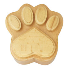 Solid Beech Wood Hand Carved Wooden Paw Shaped Urn for Human Pet Cat Dog Ashes