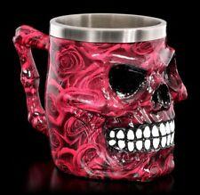 Totenkopf Krug - Romance Skull - Gothic Trinkgefäß Deko Trinkbecher