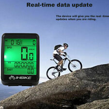 Waterproof Digital LCD Cycling Bike Bicycles Computer Odometer Speedometer Wired