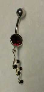 Sterling silver Jeweled Belly Ring