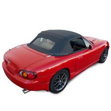 Miata Black Cabrio Vinyl Top For 90 05 Non Zippered Heated Glass Window Fits Mazda Miata