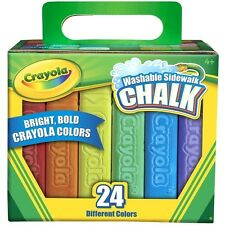 Crayola 51-2024 Washable Sidewalk Chalk For Kids Drawing & Painting 24 Count New