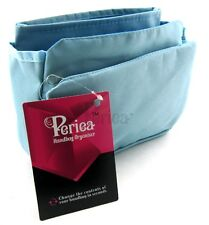 Periea Handbag Organiser, Insert, Liner 9 Pockets - Blue - Tegan