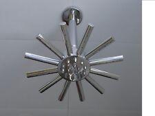 "STAR CLOUDBURST SHOWER HEAD 20CMS 8"" & CEILING MOUNTED ARM, BRASS & CHROME, 004C"