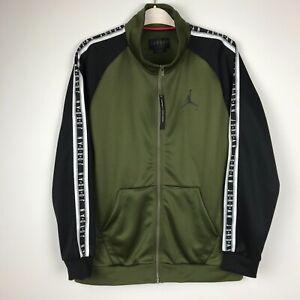 Nike Air Jordan JSW Tricot Jacket Jumpman Men's L Black/G/White AQ2691-395 NWT