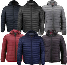 Men's Lightweight Slim Fit Packable Puffer Hooded Zipper Insulated Jacket