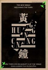 Huang Chung Hold Back The Tears Advert NME Cutting 1981