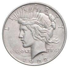 Choice AU/UNC 1922-D Peace Silver Dollar - 90% Silver *870