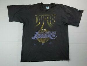 Vintage 90s Starter NBA Los Angeles Lakers Big Logo T-Shirt Size Large