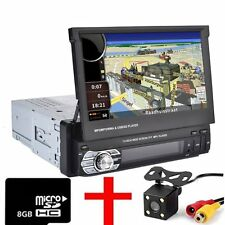 "7 ""1 DIN Auto Radio Stereo Car Mp5 Player GPS Sat Nav + telecamera posteriore"