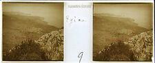 Egine Grèce Stereo Félix Sartiaux 45x107mm Plaque pos ca 1911