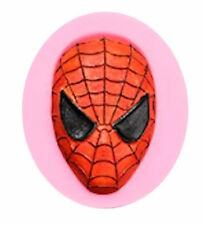 Spiderman Face Mask Silicone Mold for Gum Paste, Fondant, Chocolate, Crafts