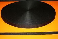 SANGLE RUBAN Gros Grain NOIR 25 mm pour vos loisirs créatifs Vendu aux Mètres