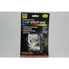 "1-1/8"" Utility Drawer and Door Lock FRANKLIN MFG Cam Locks 865BL Zinc Steel"