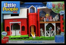 FISHER PRICE LITTLE PEOPLE ANIMAL FRIENDS FARM & 7 FIGURES W/ SOUND *NEW*
