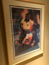 Pele Autographed Lithograph by Michael Dudash Signed by Both Pele and Dudash