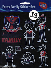 MELBOURNE DEMONS * FOOTY FAMILY STICKER SET * AFL * NEW & SEALED