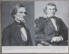 "Vintage 11x14"" Photograph President Jefferson Davis & Vice Alexander H Stephens"